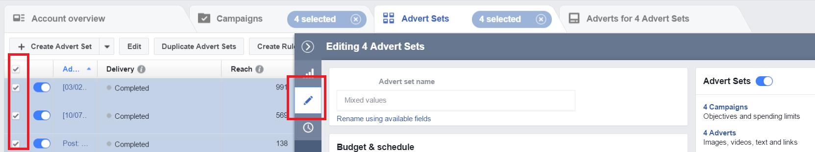 FB ad Sets