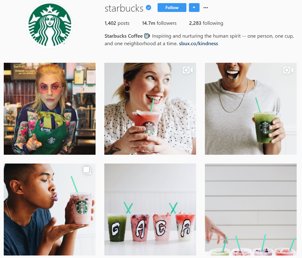 Starbucks instagram account