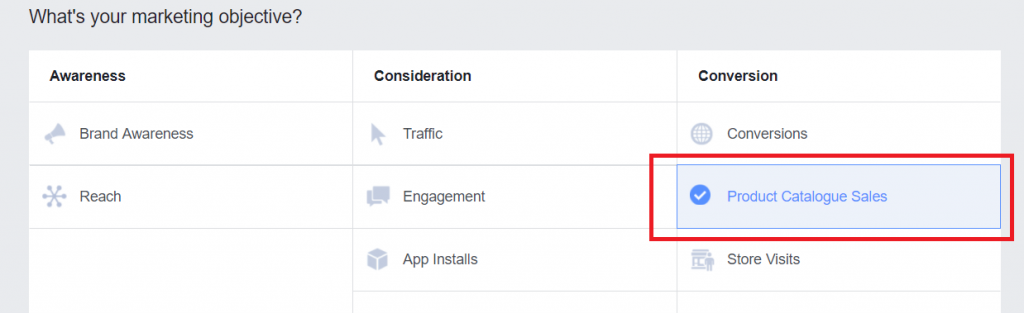 Setting up Facebook product ads