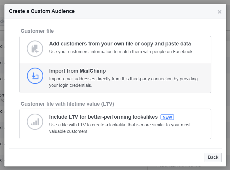 Importing customer files into Facebook custom audiences