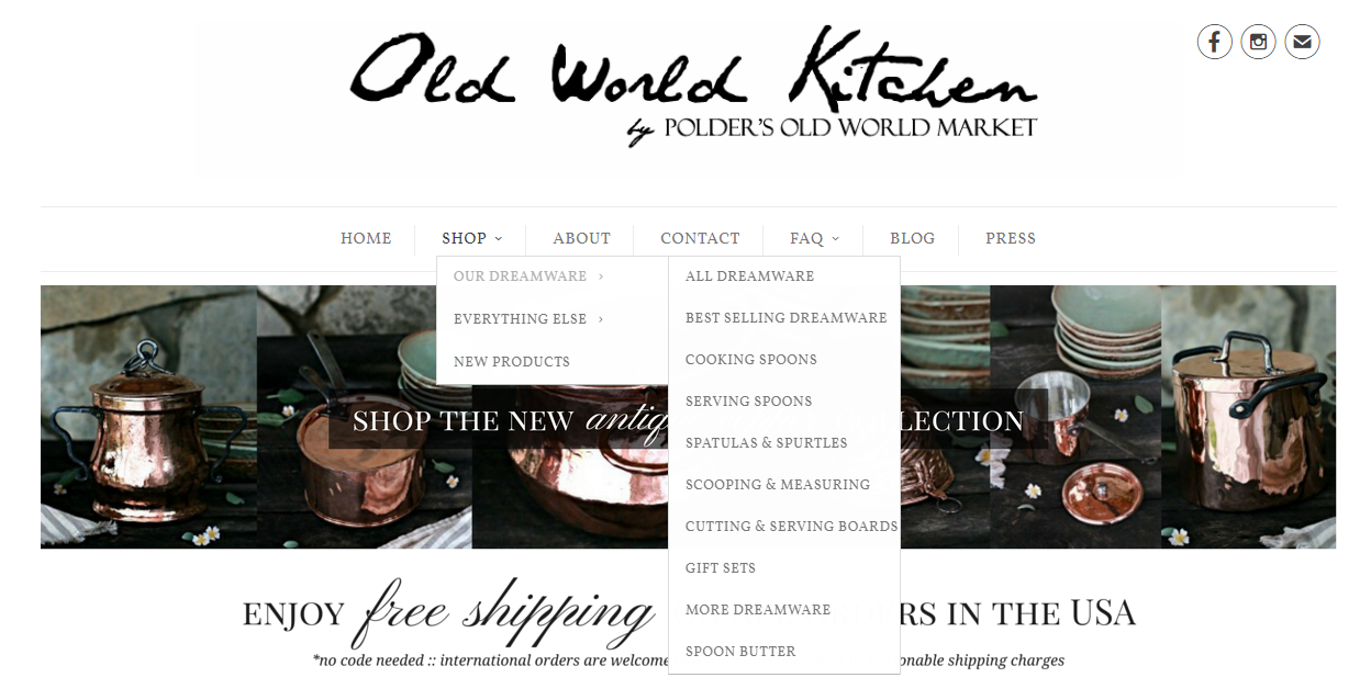 Old World Kitchen online store