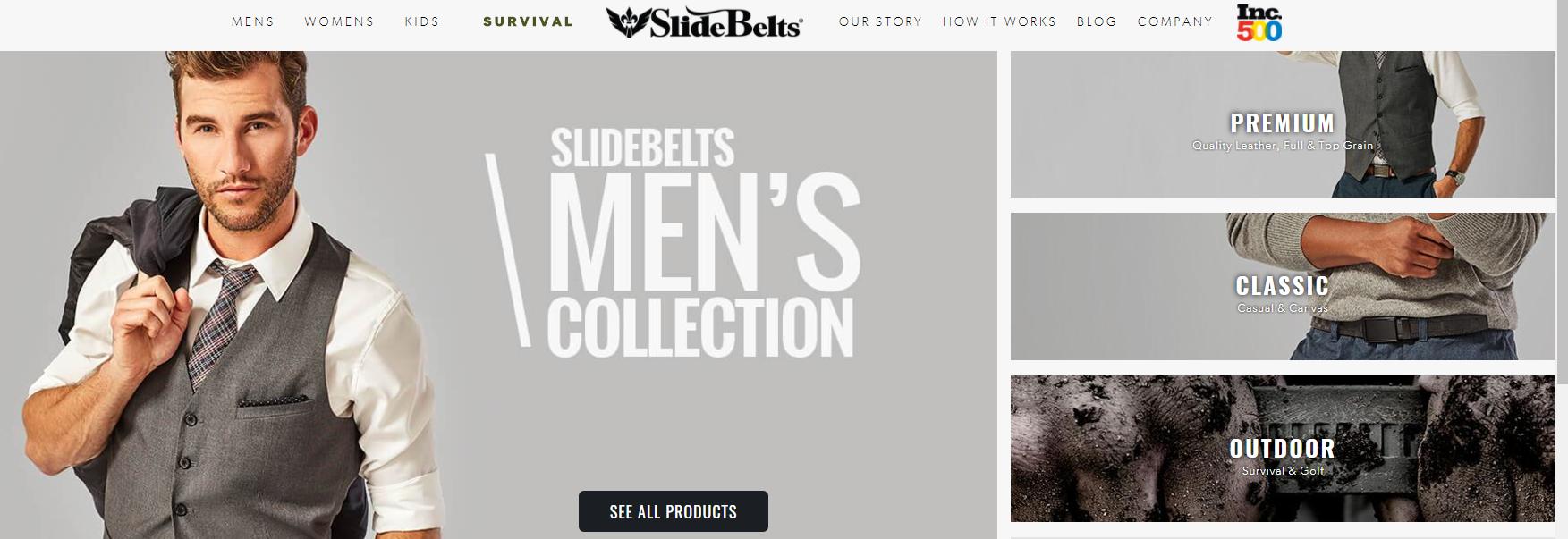 slide belts online store