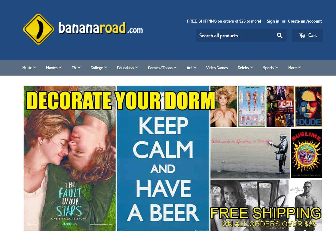 Banana brand online store