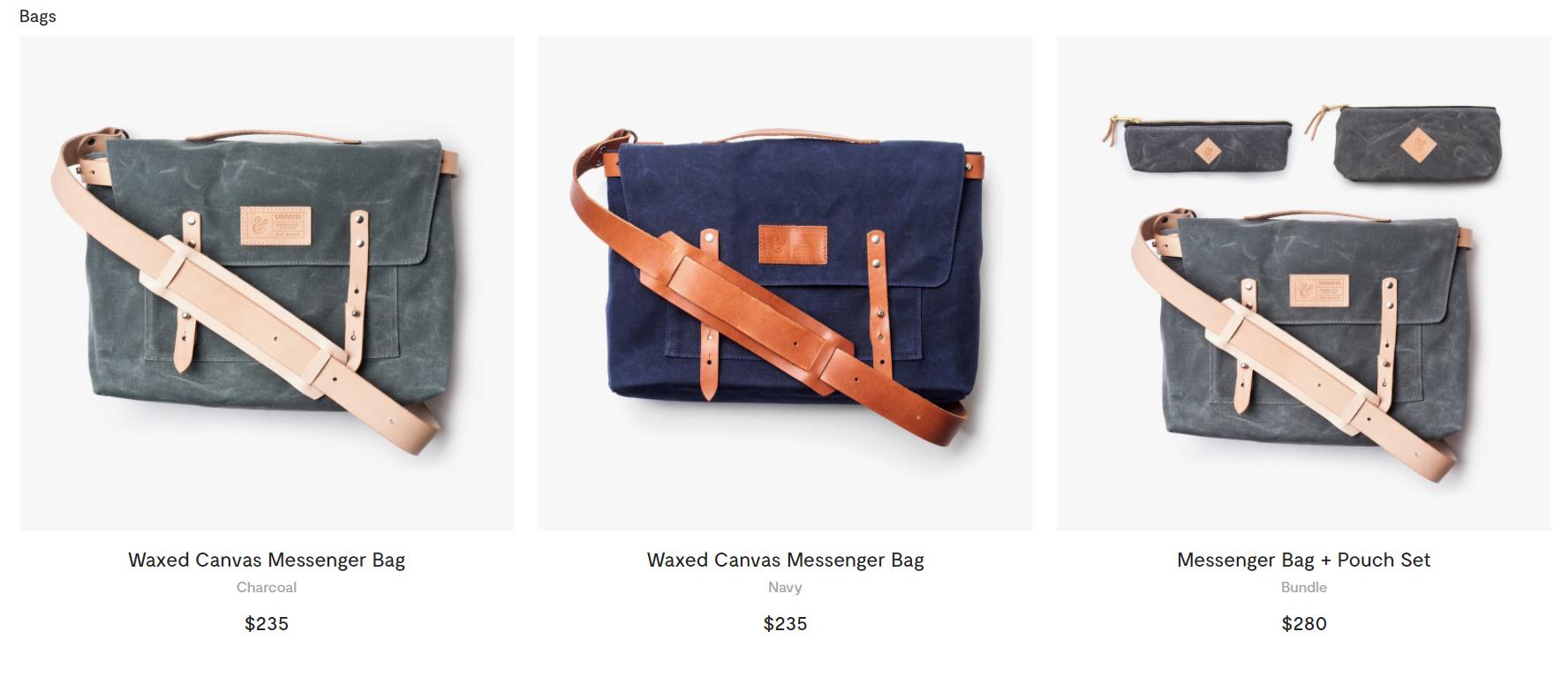 handmade messenger bags online