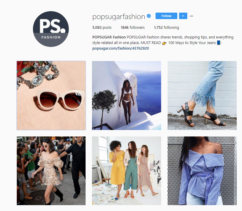 fashion trends on instagram