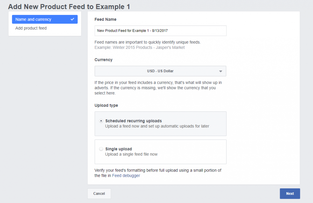 How to set up facebook dynamic product ads