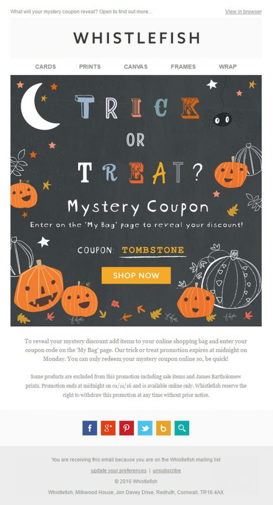 example of good holiday email themes for eCommerce