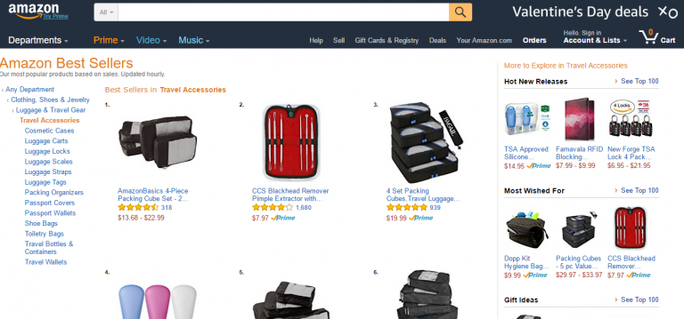 best sellers examples for eCommerce