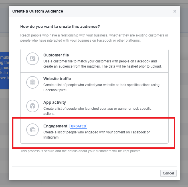 how to create custom audiences in Facebook