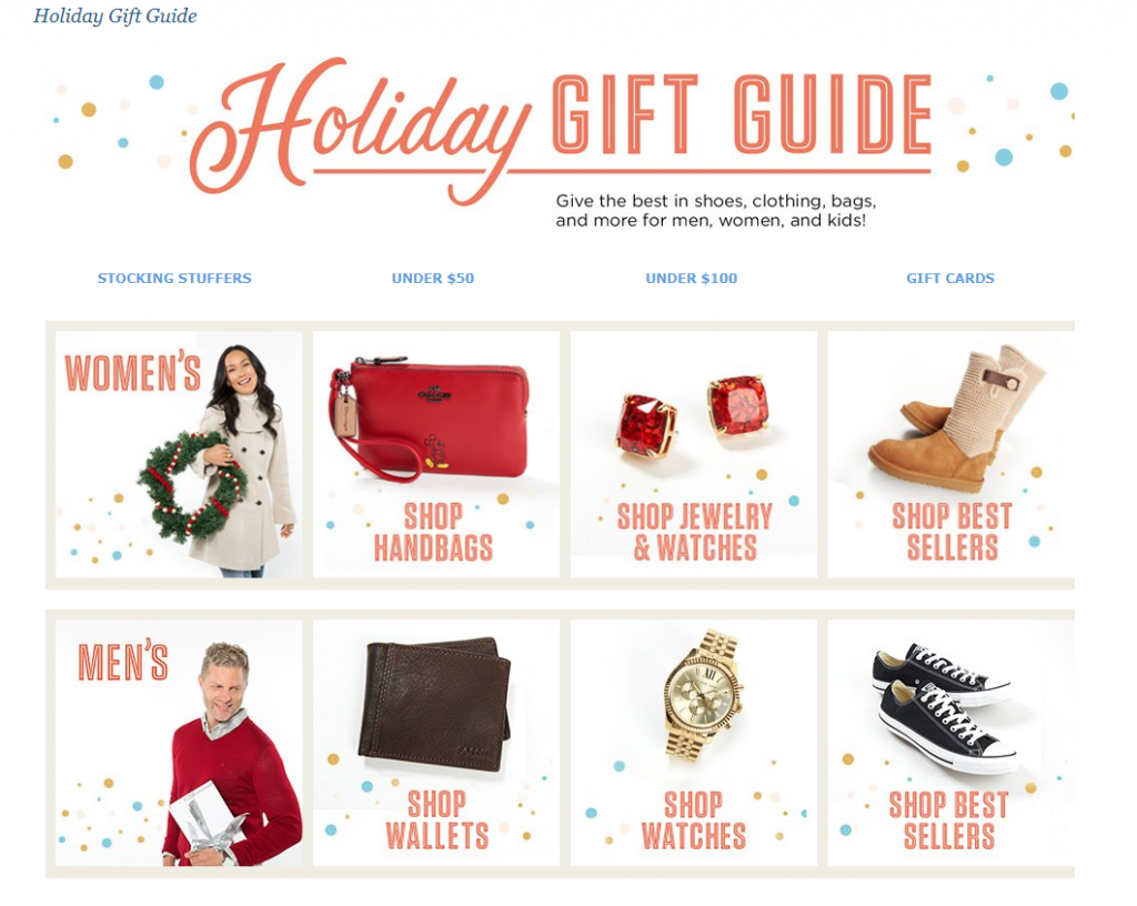example of gift guides for ecommerce stores