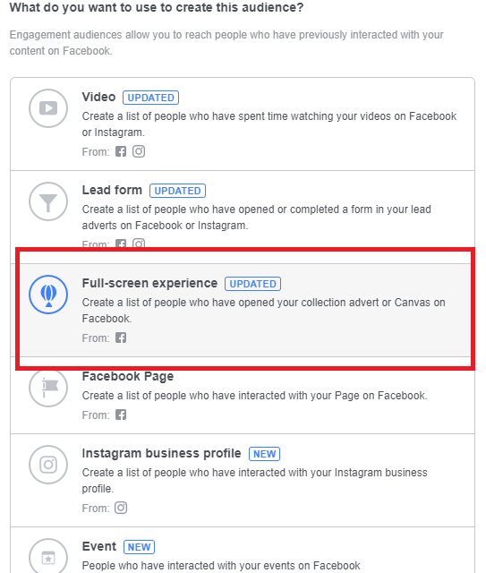 how to create facebook canvas ads