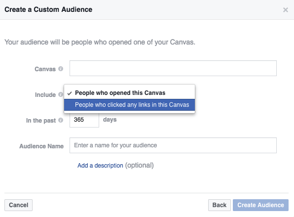 how to create canvas facebook ads