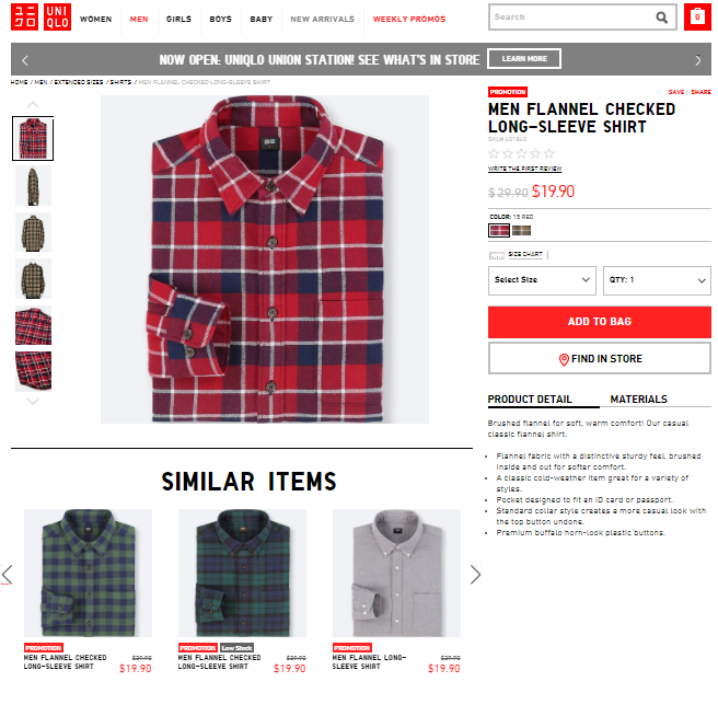 example of eCommerce product pages
