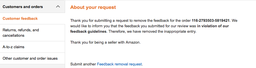 amazon product review request