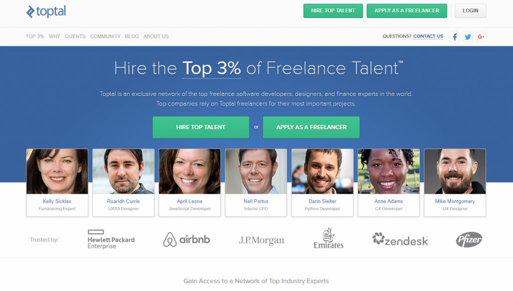 find a freelancer on Toptal