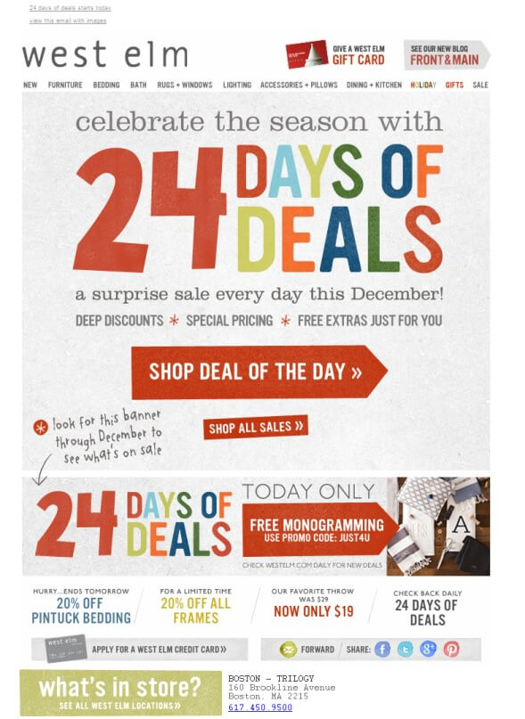 eCommerce christmas campaign ideas