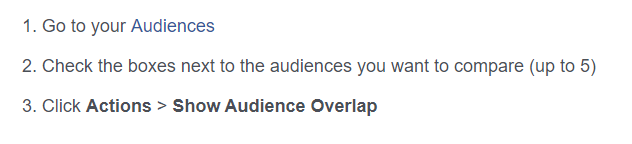 Fixing Facebook audience overlap
