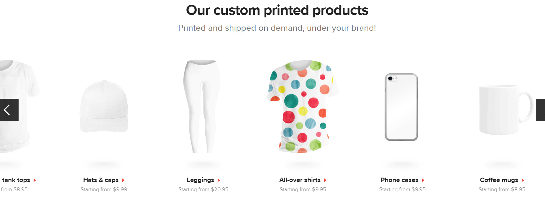 printful dropshipping options