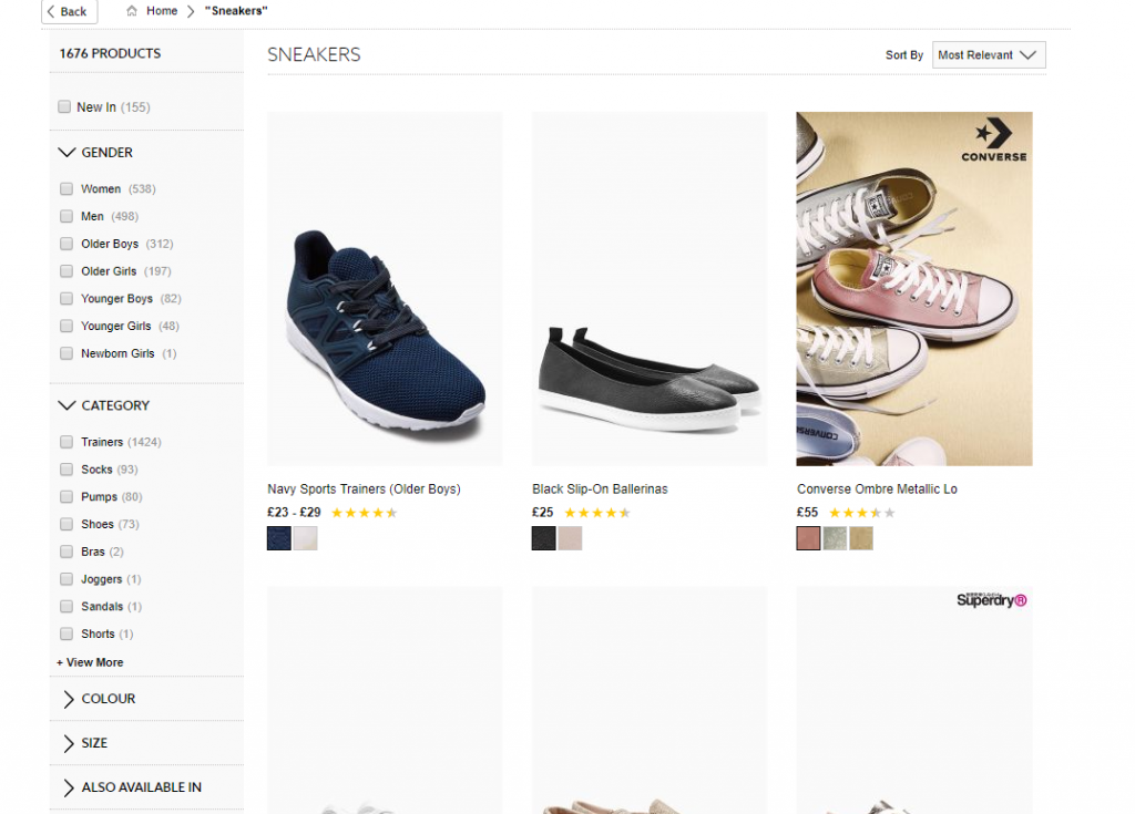 Search product recommendations