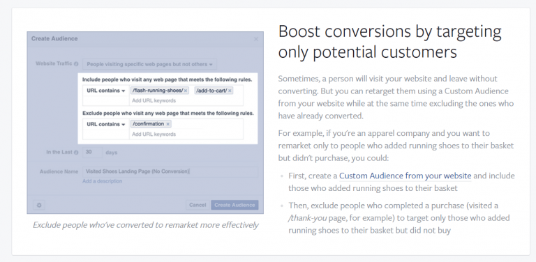 Facebook Retargeting setup