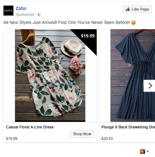 Dynamic facebook ad examples