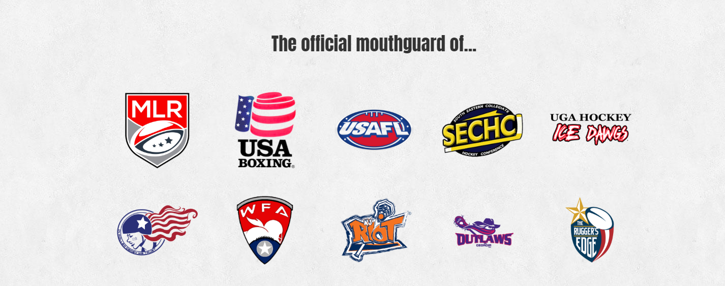 Official mouthguards of US sports teams
