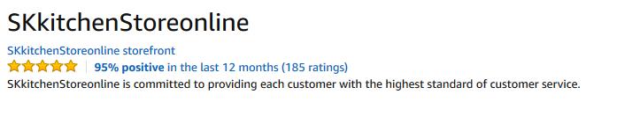 Good seller feedback on Amazon