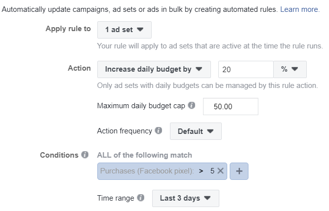 scale facebook campaigns with automation rules