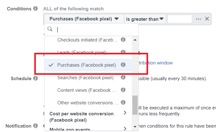 scaling facebook automatic conditions 2