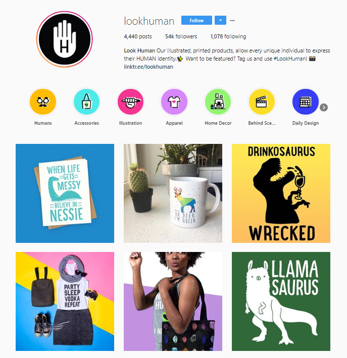 good example of ecommerce instagram account
