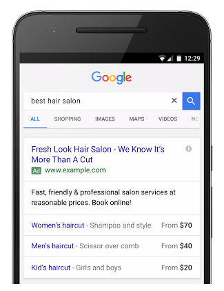 google price extensions for search ads