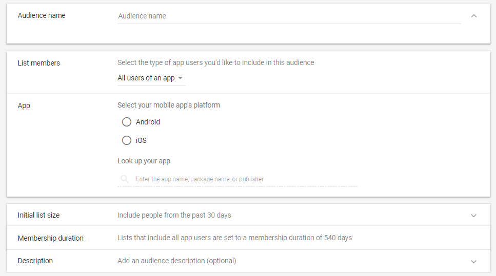 how to target target IOS or Android users with remarketing ads
