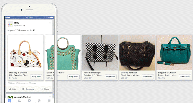 good example of ecommerce facebook dynamic ad