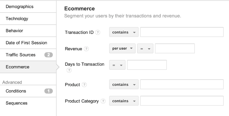 creating eCommerce audience lists for remarketing