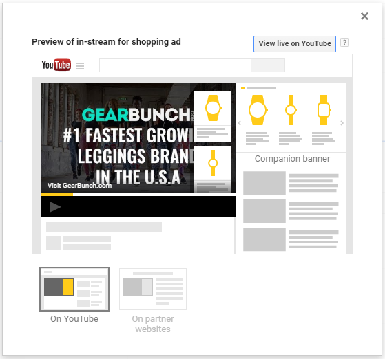 youtube ads for eCommerce