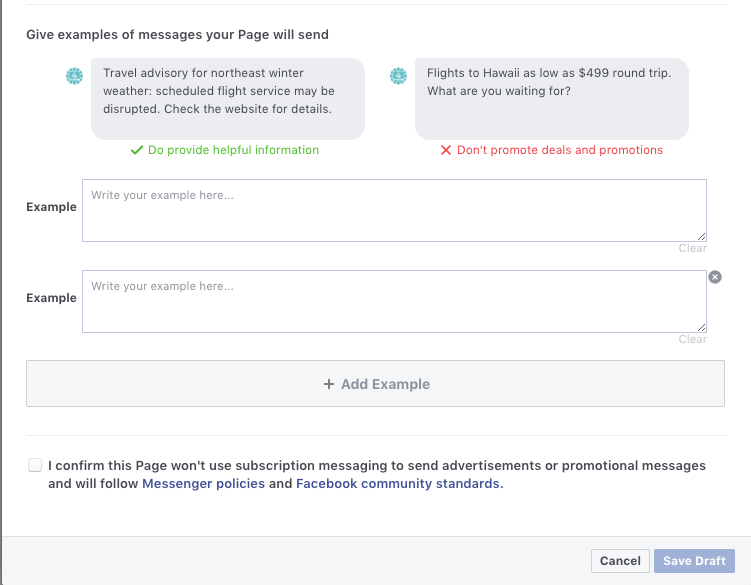 Facebook messenger subscription strategy for eCommerce