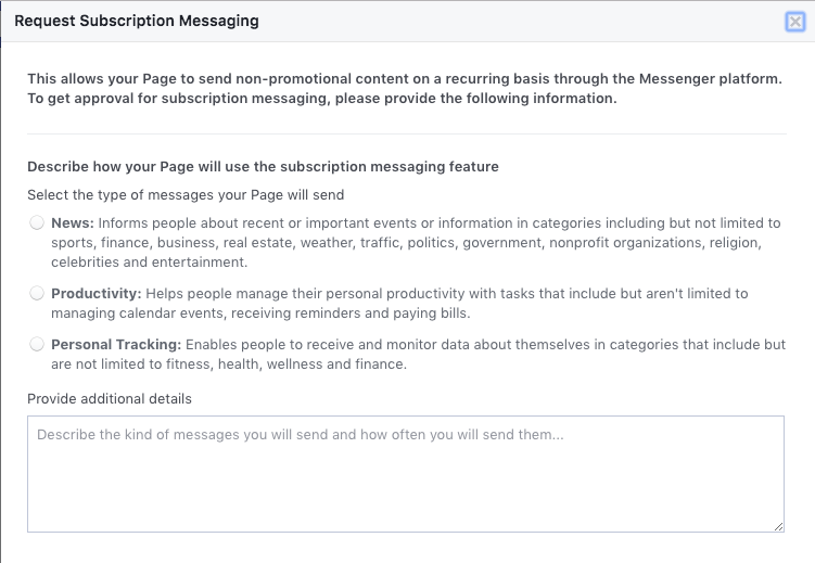 working around Facebook messenger's new rules