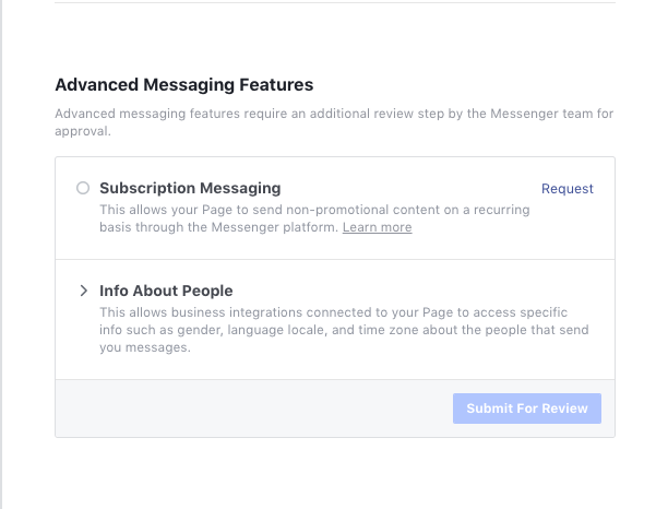 advanced Facebook messenger features