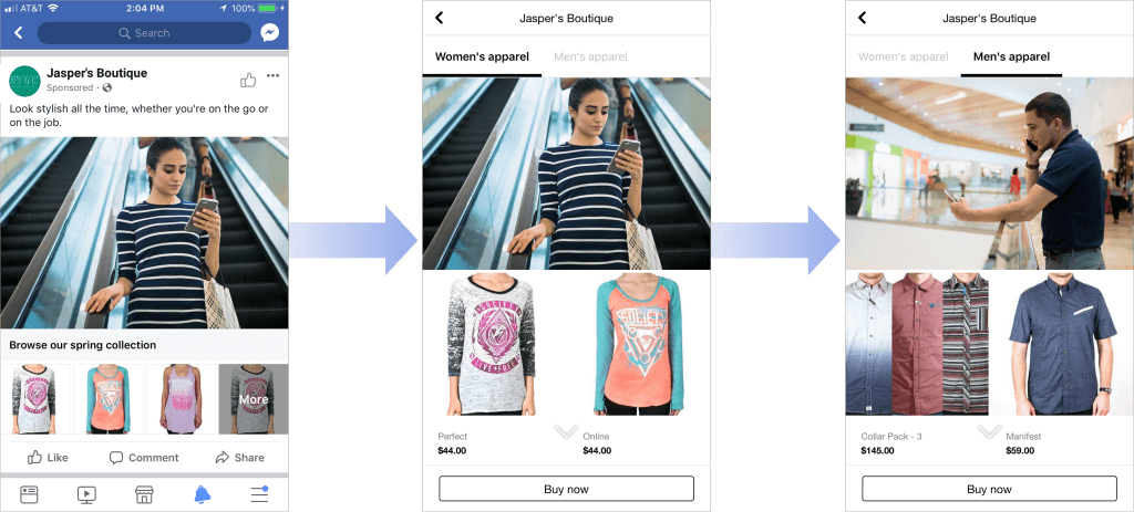 multiple categories for Collection and Canvas ads