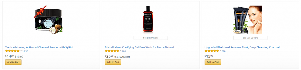 charcoal beauty products Amazon