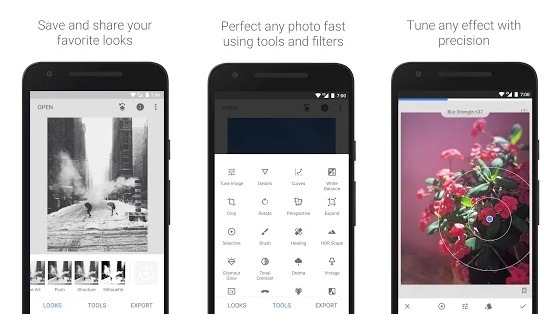 free photo editing software android Snapseed