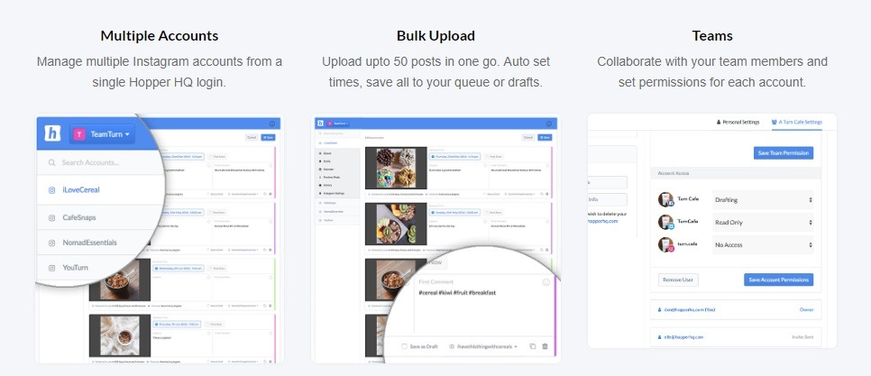 scheduling software for Instagram by hopper