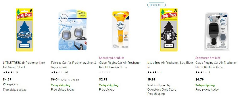 most popular car fresheners on wallmart