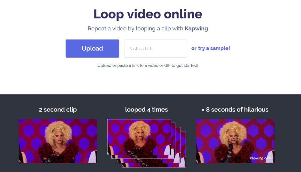 online video editor to make loop videos