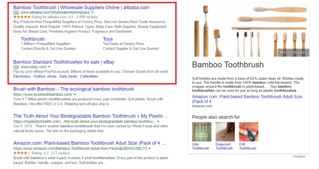search terms bamboo toothbrushes