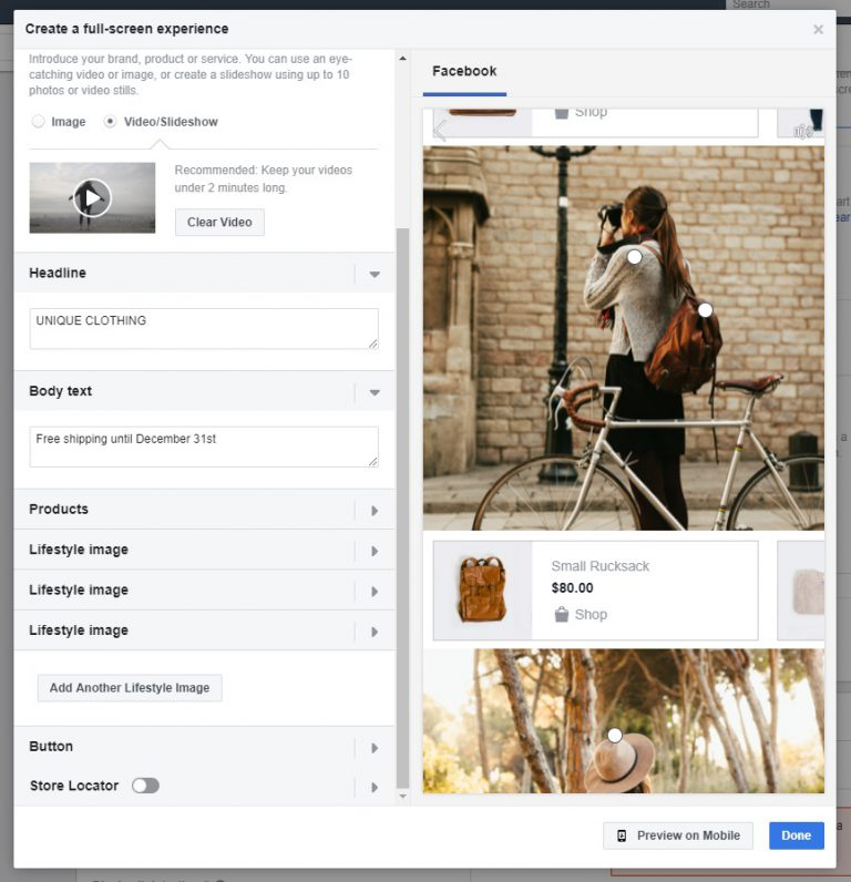 how to Creating Facebook collection ads