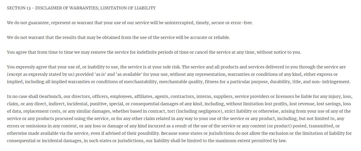 Must-Have Terms Conditions Template for eCommerce