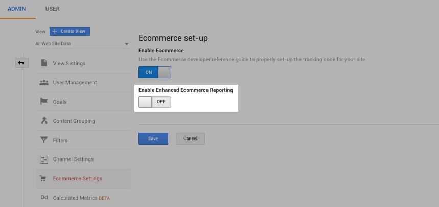 setting up enhanced analytics tracking for online store