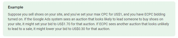 example of enhanced cpc bidding