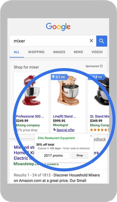 google shopping campaign ad examples
